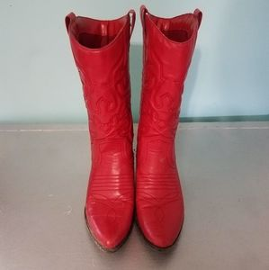 Womens cowgirl red boots